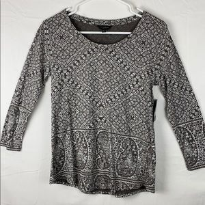 NWT new Lucky Brand boho 3/4 sleeves top small
